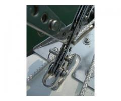 Genoa furler extension/tensioner and auxiliary hank-on rig