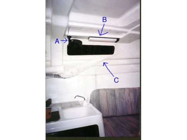 Circulation Fan, Interior Light, Gear Hammock