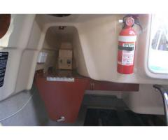secure storage trays above aft berth