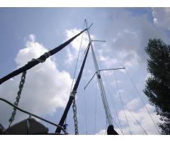 Three sectional  mast