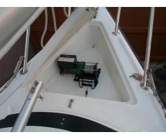 Mast Raising using a 12 volts winch.