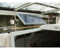 Solarpaneel, Mirror and Boat Hook