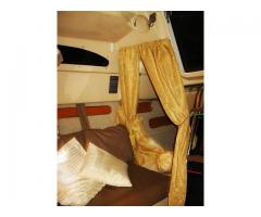 Aft Berth privacy sleeping curtains