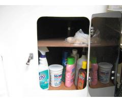 Head cabinet  shelves & porta-potti base