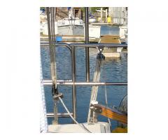 Backstay adjuster and rudder lift