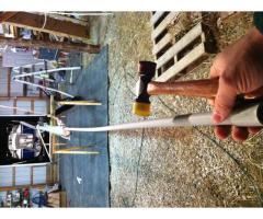 mast wiring: conduit, anchor light, deck light
