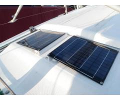 Cabin-top solar panels