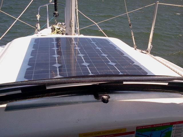 sliding hatch solar panel