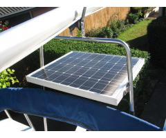 Solar panel on factory mast support