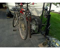 Combo bike rack and spare tire mount