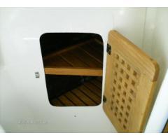 Head cabinet door and shelves