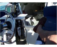 Pedestal-mounted VHF radio mike