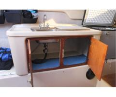 Sink and doors sliding galley